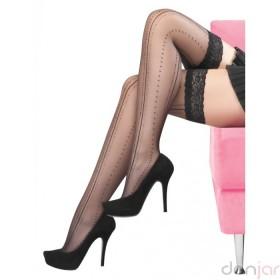İtaliana Julia Desenli Jartiyersiz Çorap