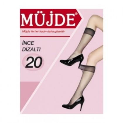 Müjde 20 Denye Süper İnce Mat Dizaltı Çorap