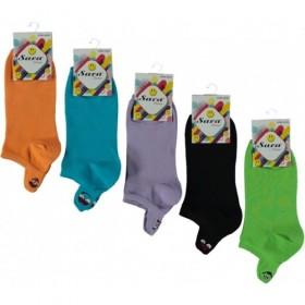 Emoji Desenli Likralı 3' Lü Bayan Patik Çorap