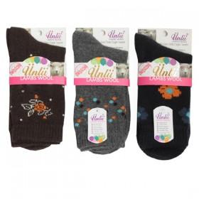 Ünlü Lambswool Yün Dikişsiz Bayan Soket Çorap