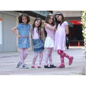 Mim Pamuklu Desenli Çocuk Külotlu Çorap