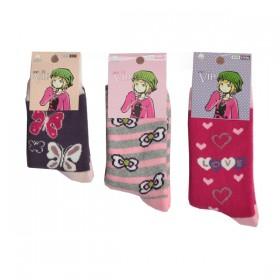 Vip Havlu Likralı Kız Çocuk Çorap
