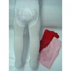 Yümese Poposu Dantelli  Çocuk Külotlu Çorap