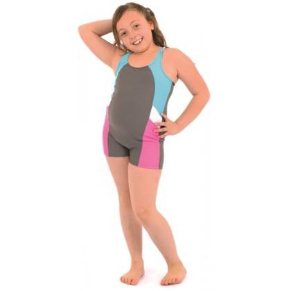 Azra Likra Kız Çocuk Şortlu Yüzücü Mayo